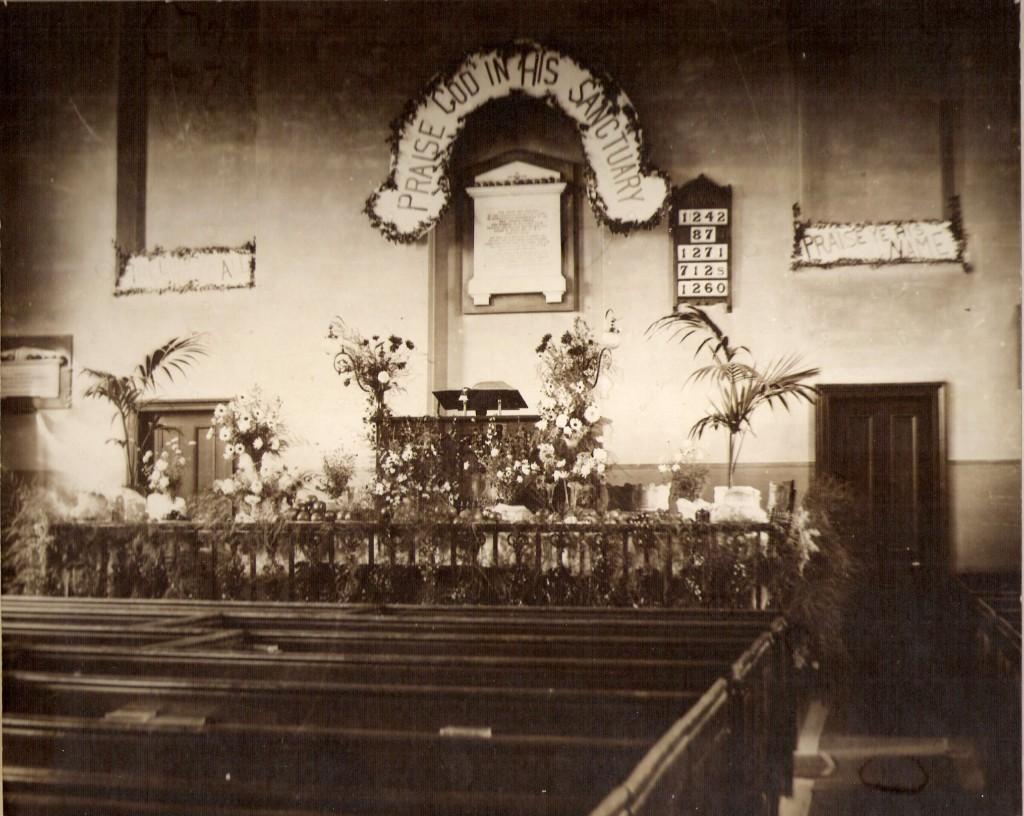 Church interior c.1906