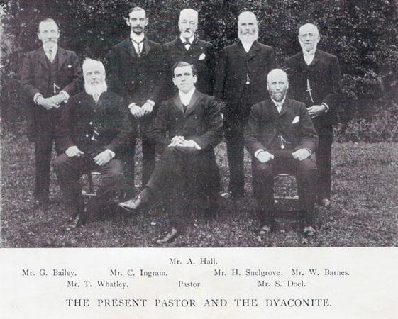 Rev Doel and Diaconate  (taken from the Manse Bazaar album c.1905)