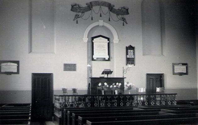 Church interior c.1925