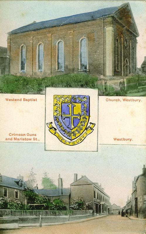 West End Baptist Church & Crimean Guns c.1905